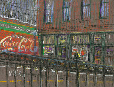 Plein Air Drawing - Henry's by Donald Maier