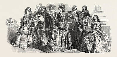Buckingham Palace Drawing - Her Majesty Queen Victorias Costume Ball At Buckingham by English School