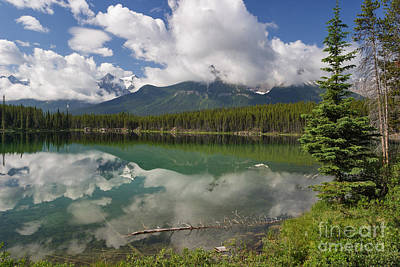 Photograph - Herbert Lake Reflections by Charles Kozierok