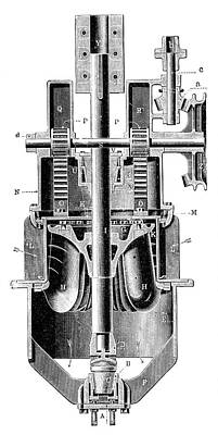 Hercule-progres Turbine Art Print by Science Photo Library