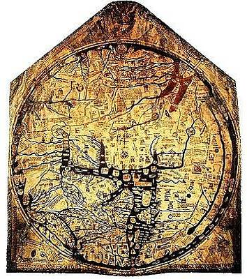 Believers Mixed Media - Hereford Mappa Mundi 1300 by L Brown