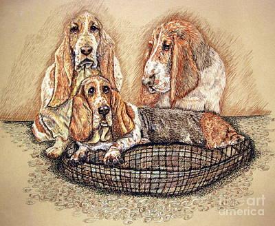 Hess'er Puppies Art Print by Linda Simon