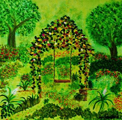 Swing Painting - Hidden Garden by Celeste Manning