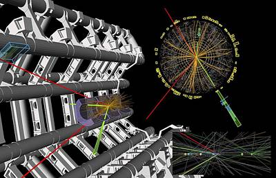 Vertex Photograph - Higgs Boson Research, Atlas Detector by Science Photo Library