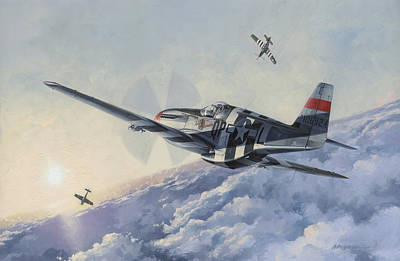 Military Aviation Art Painting - High Angle Snapshot by Wade Meyers