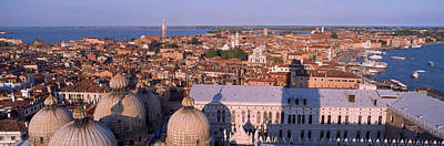 Domes Of Venice Photograph - High Angle View Of A City, Venice, Italy by Panoramic Images