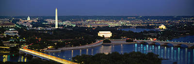Lincoln Memorial Photograph - High Angle View Of A City, Washington by Panoramic Images