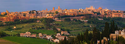 Orvieto Photograph - High Angle View Of A Cityscape by Panoramic Images