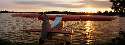 Urban Scenes Photograph - High Angle View Of A Sea Plane, Lake by Panoramic Images