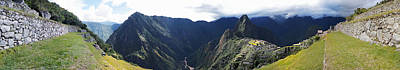 High Angle View Of A Valley, Machu Art Print