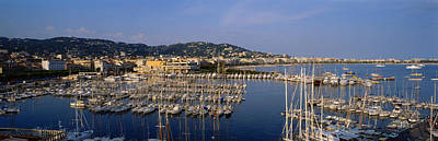 Cote Dazur Photograph - High Angle View Of Boats Docked At by Panoramic Images