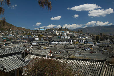 Rooftop Photograph - High Angle View Of Houses In A Town by Panoramic Images