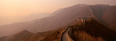 Great Wall Of China Photograph - High Angle View Of The Great Wall Of by Panoramic Images