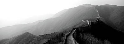 High Angle View Of The Great Wall Art Print