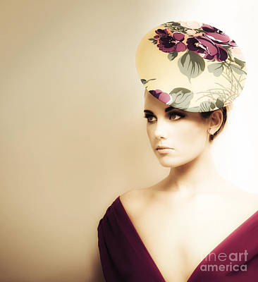 High Fashion Portrait Art Print
