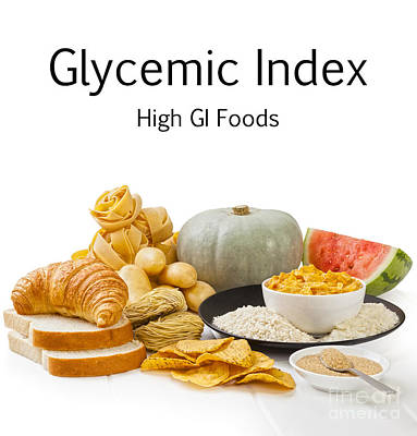 Watermelon Photograph - High Glycaemic Index Foods by Colin and Linda McKie