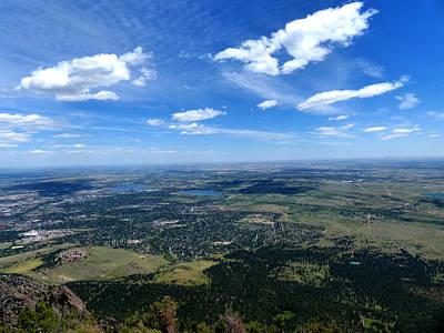 High Over Boulder Colorado Art Print