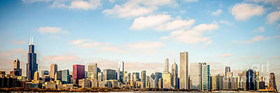 Chicago Skyline Photograph - High Resolution Large Photo Of Chicago Skyline by Paul Velgos
