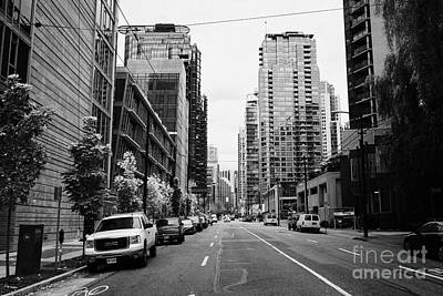 high rise apartment condo blocks in the west end west pender street Vancouver BC Canada Art Print by Joe Fox