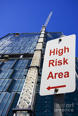High Risk Building Site Art Print