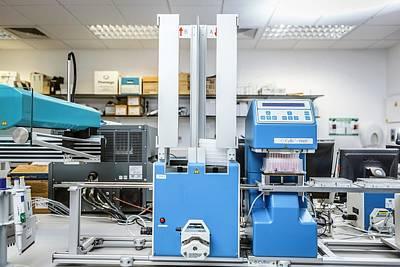 High-throughput Screening Machine Art Print by Gustoimages