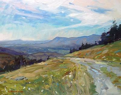 Gravel Road Painting - Highland Valley View  by Kyle Buckland