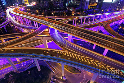 Shanghai Photograph - Highway Intersection In Shanghai by Lars Ruecker