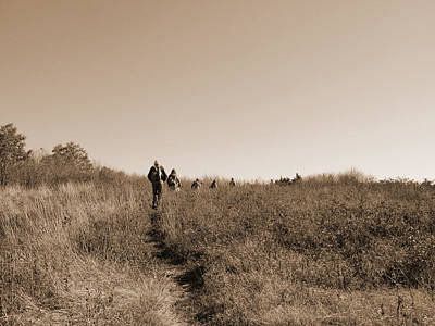 Photograph - Hiking Group by Melinda Fawver