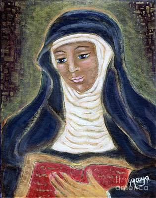 Painting - Hildegard Von Bingen by Maya Telford