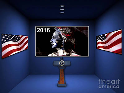 Color Mixed Media - Hillary 2016 by Marvin Blaine