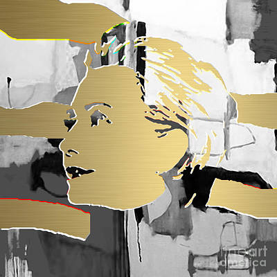 Hillary Clinton Gold Series Art Print by Marvin Blaine
