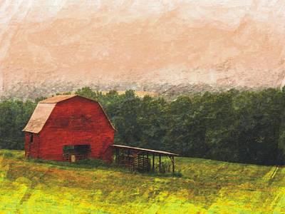 Photograph - Hillside Barn by Joe Duket