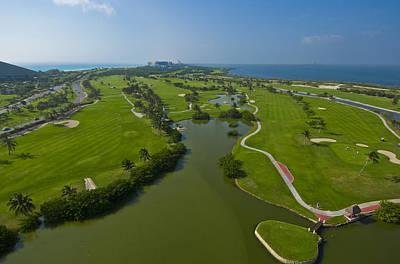 Landscapes Photograph - Hilton Cancun Golf & Spa Resort by Victor Elias