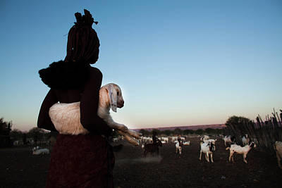 Himba Tribe Art Print by Ton Koene