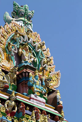 Burmese Python Wall Art - Photograph - Hindu Temple In (rangoon by David R. Frazier