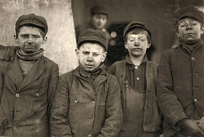 Photograph - Hine Breaker Boys, 1911 by Granger