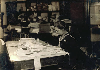 Hine Seamstress, 1917 Art Print by Granger