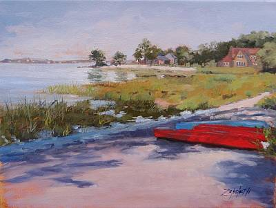 Massachusetts Painting - Hingham's Edge by Laura Lee Zanghetti