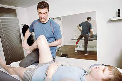 Manipulation Photograph - Hip And Knee Physiotherapy by Thomas Fredberg