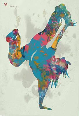 Hip Hop Street Dancing  Pop Art Poster Art Print