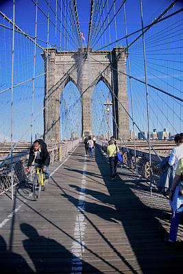 N.y Photograph - Historic Brooklyn Bridge, New York by Panoramic Images