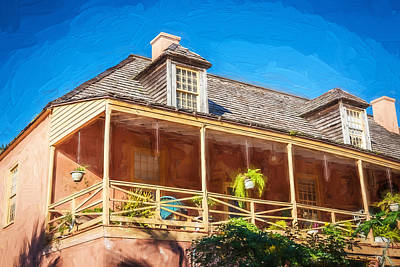 Photograph - Historic Homes Of St Augustine Painted  by Rich Franco