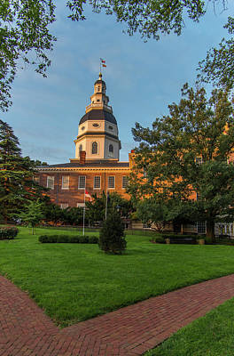 Maryland Photograph - Historic Maryland State House by Jerry Ginsberg