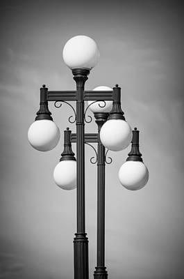 Photograph - Historic Ybor Lamp Posts by Carolyn Marshall