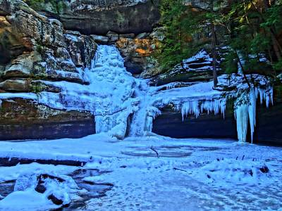 Photograph - Hocking Hills State Park In Winter by Dan Sproul