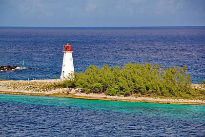 Photograph - Hog Island Lighthouse On Paradise Island Bahamas by Simply  Photos