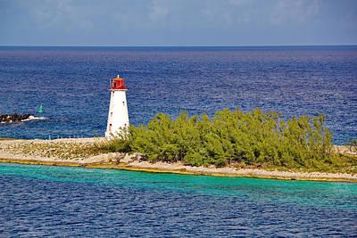Photograph - Hog Island Lighthouse On Paradise Island Bahamas by Simply  Photos