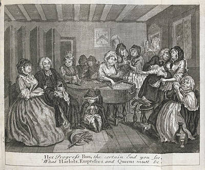 Hogarth On Venereal Disease Art Print by British Library