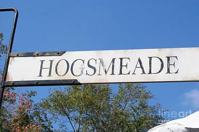 Hogsmeade Sign Art Print