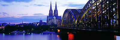 Hohenzollern Bridge And Cologne Art Print